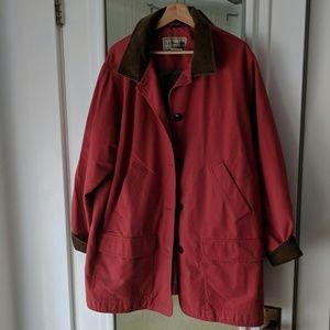 L.L. Bean Cranberry Barn Coat Corduroy Collar